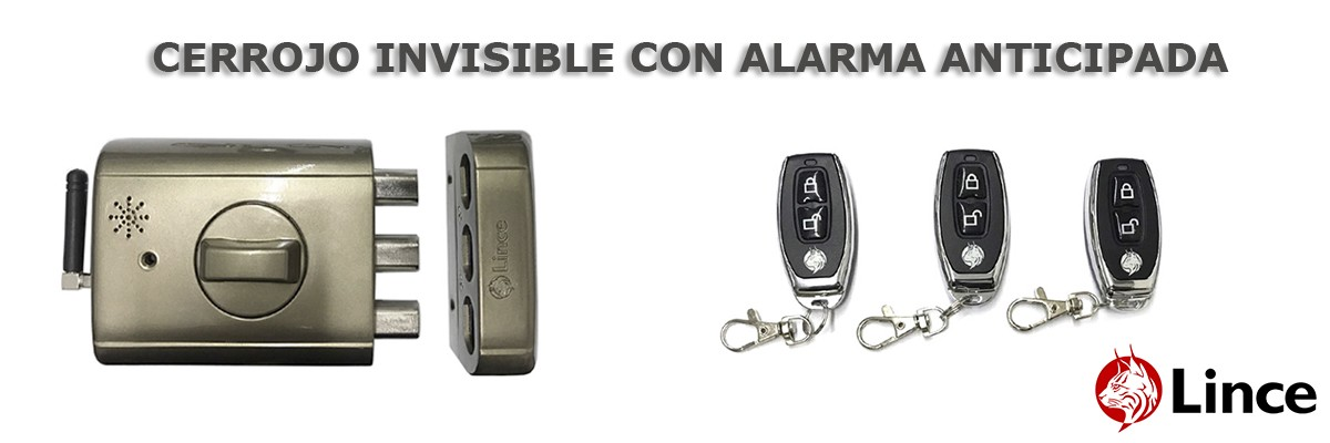Cerrojo invisible con alarma anticipada